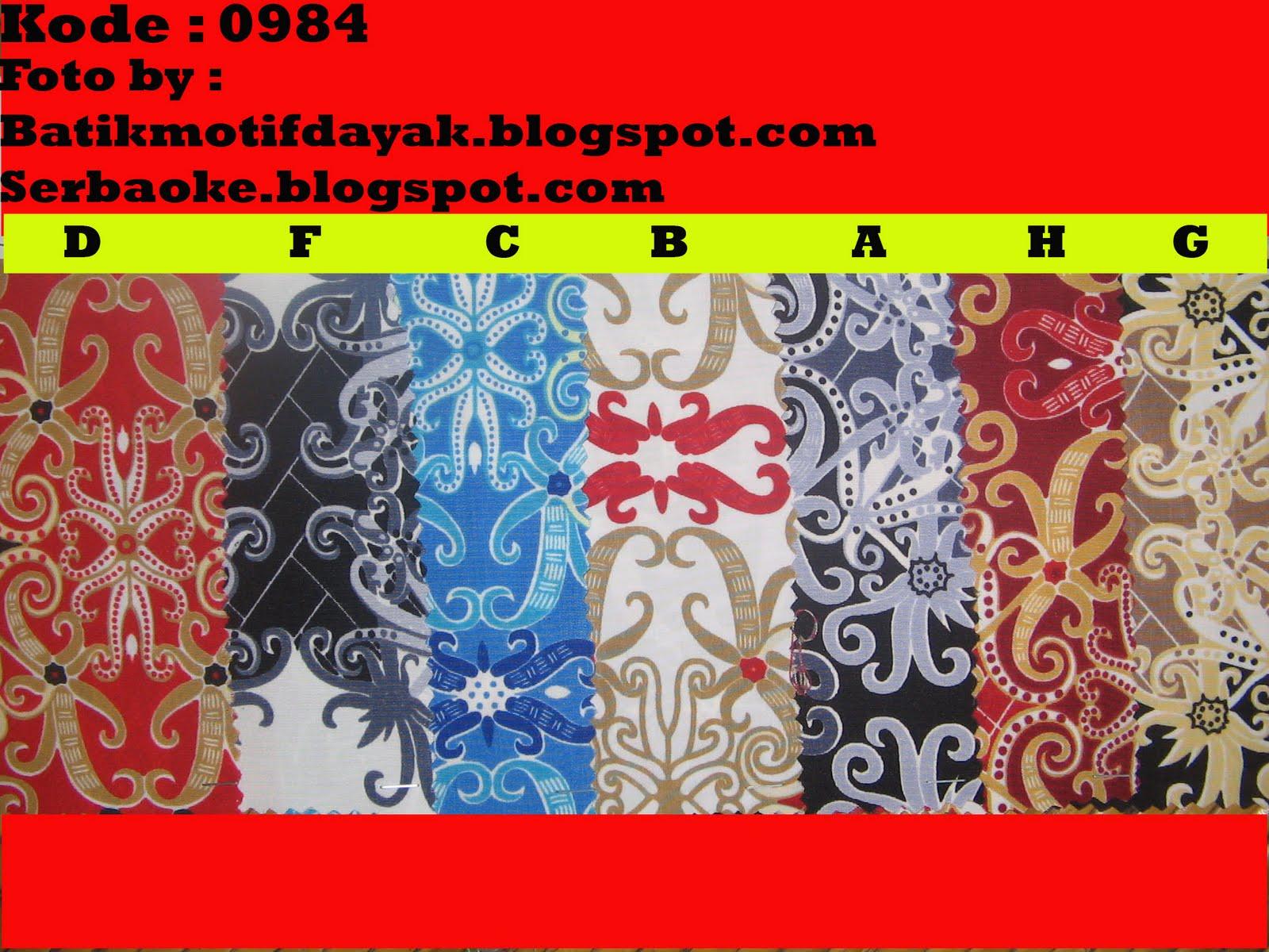 Batik Motif Dayak Khas Kalimantan  Koleksi Kain Batik Motif