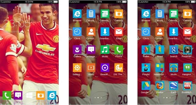 Tema Manchester United Android - Van Persie