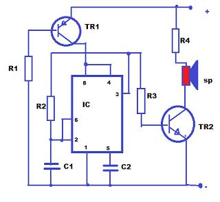 skema rangkaian alat pengusir nyamuk elektronik