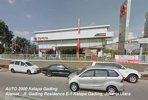 Harga TOYOTA Auto2000 Kelapa Gading, JAKARTA Utara