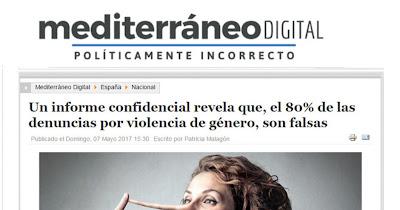 LAS DENUNCIAS FALSAS DE VIOLENCIA DE GÉNERO, UNA LACRA QUE NADIE SE ATREVE A CUANTIFICAR