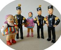 celuloidowe figurki lata 50., 60.    celluloid toys '50s, '60s