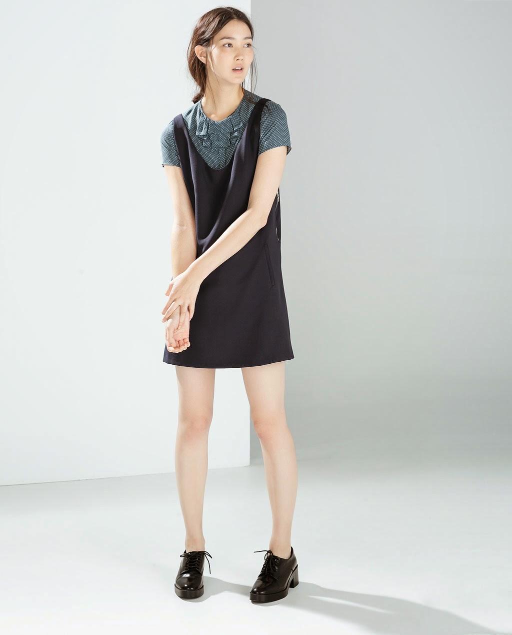 Vestido pichi cremalleras laterales de Zara / Zara lateral zips dress
