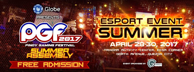 Pinoy Gaming Festival 2017 Announced, April 28-30 at Trinoma