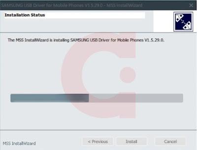Proses Instalasi Samsung USB Driver