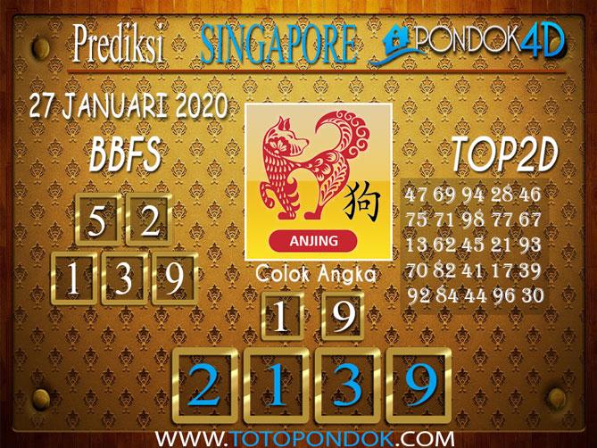 Prediksi Togel SINGAPORE PONDOK4D 27 JANUARI 2020