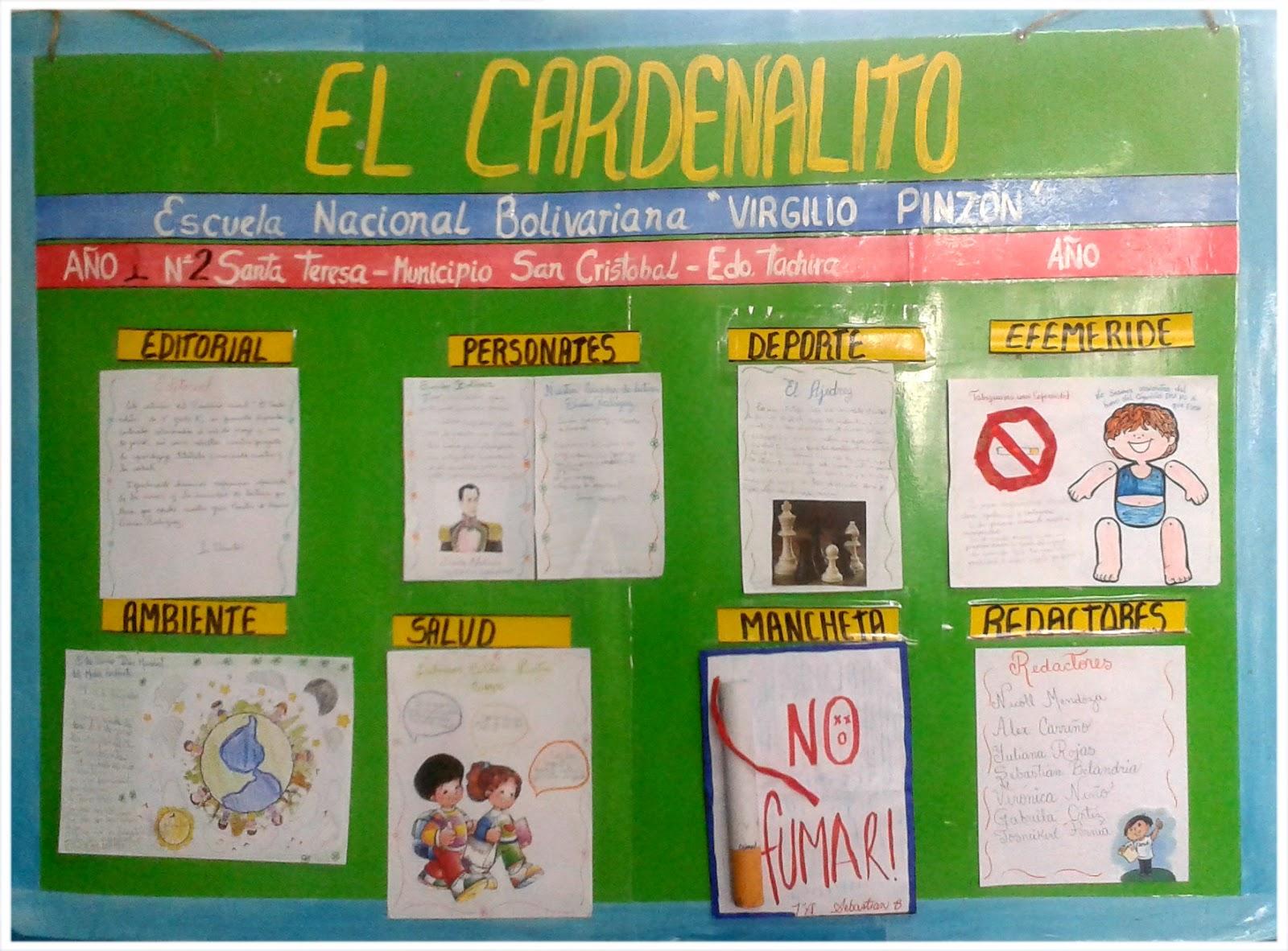 Escuela bolivariana virgilio pinz n peri dicos murales de for Como organizar un periodico mural