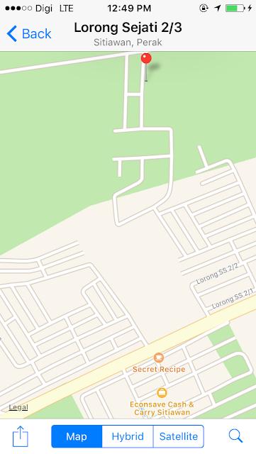 Peta ke H&H Guesthouse Sitiawan Perak