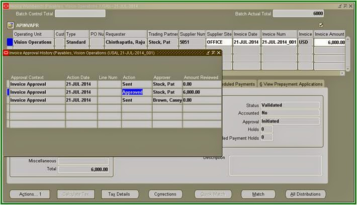 oracle applications oracle payables invoice approvals workflow