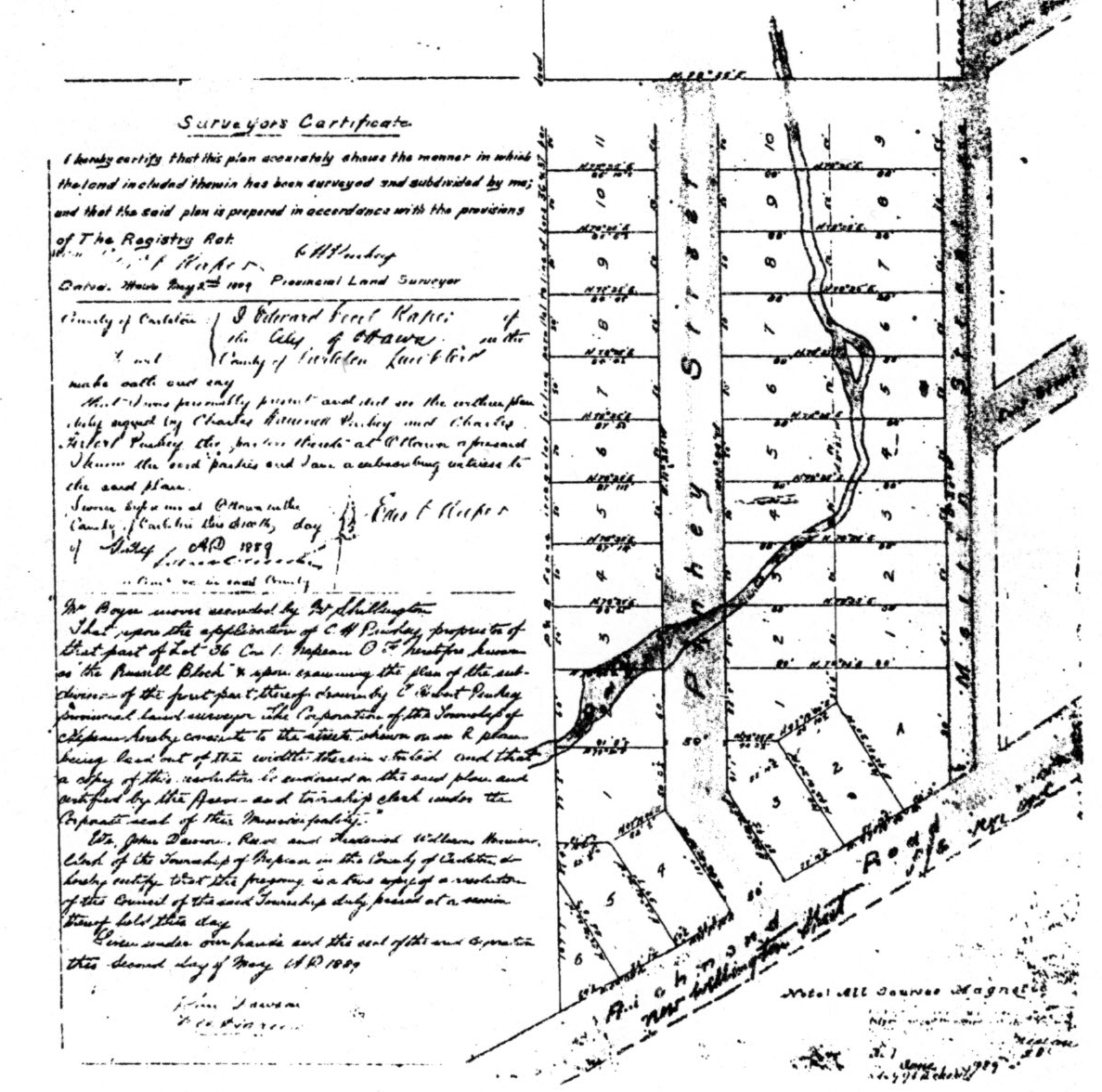 The kitchissippi museum street profiles the history of for 105 plan