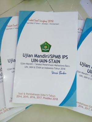 buku spmb MANDIRI UIN stain IAIN IPS IPA IPC CAMPURAN 2018