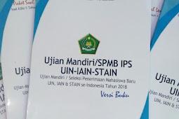 SOAL UJIAN JALUR MANDIRI UIN, IAIN, STAIN 2018