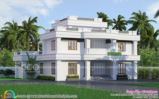 2676 square feet 4 bedroom modern flat roof house