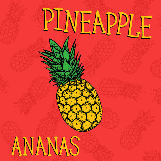 pineapple drawing picture book about fruits