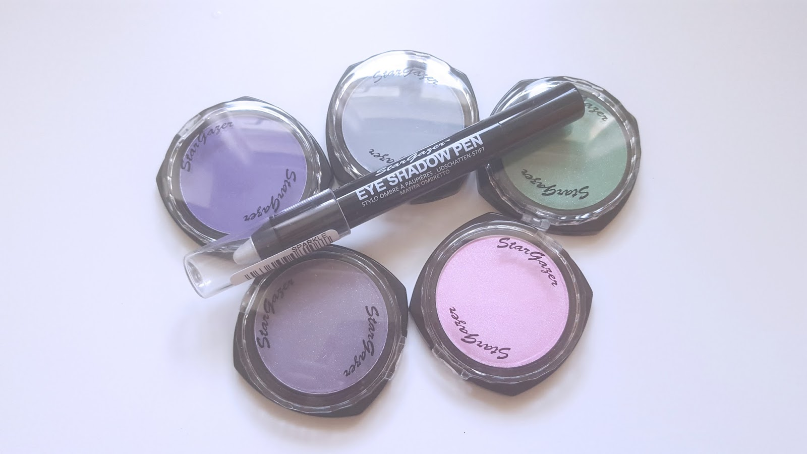 Stargazer Eyeshadows Sparkle Purple Dusty Sky Soft Candy Sparkle Green Soft Violet Eyeshadow Pen Sparkle