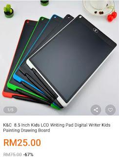 Writting pad digital untuk kanak-kanak