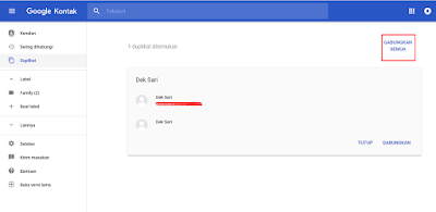 halaman google kontak