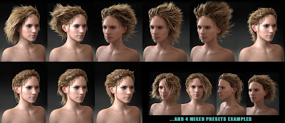 Summer Wet Hair for Genesis 3 Female
