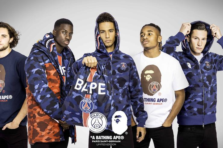 a13b0706f A BATHING APE and PSG team up for limited edition collection - Sharp ...