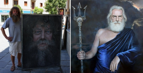 00-Drawings of Fictional Characters in Pastel on Wooden Canvas