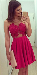 Simple Mini A-Line Homecoming Dresses Appliques Sleeveless Cocktail Dresses