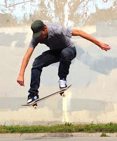Ollie Trick Skateboarding