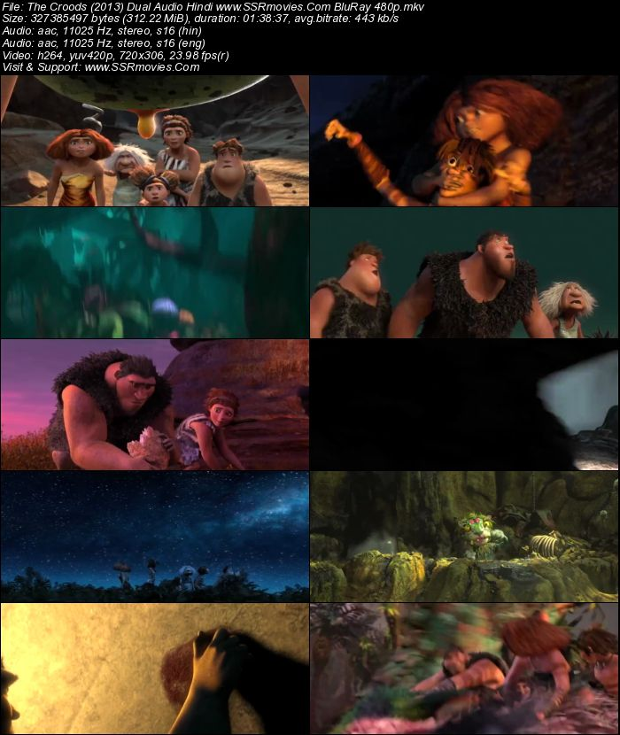 The Croods 2 Movie: The Croods (2013) Dual Audio Hindi BluRay 480p 300MB