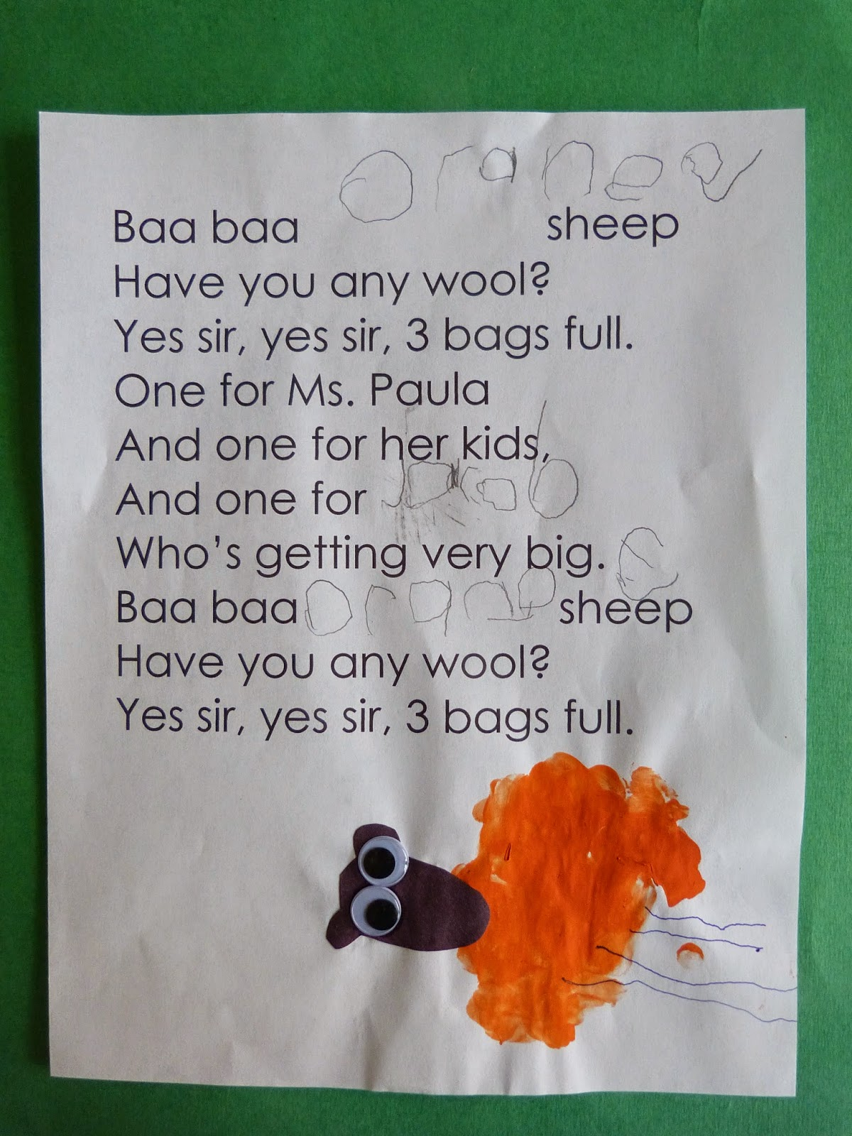 Paula S Preschool And Kindergarten Baa Baa Colorful Sheep The Very Busy Spider And A Pig Book