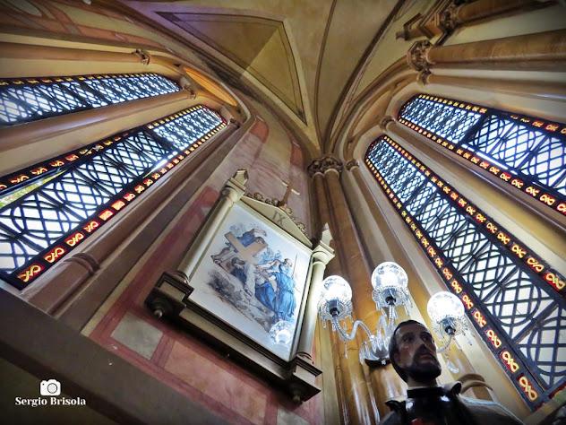 Fotocomposição artística do interior da Capela Nossa Senhora da Misericórdia - Vila Buarque - São Paulo
