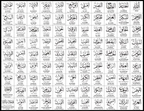 tiap nama mempunyai arti dan makna masing 99 Asmaul Husna Beserta Artinya Lengkap [Arab Latin dan Terjemahan]