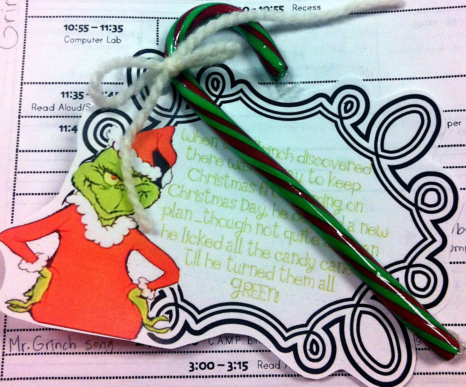 Fun With Firsties Grinch Week