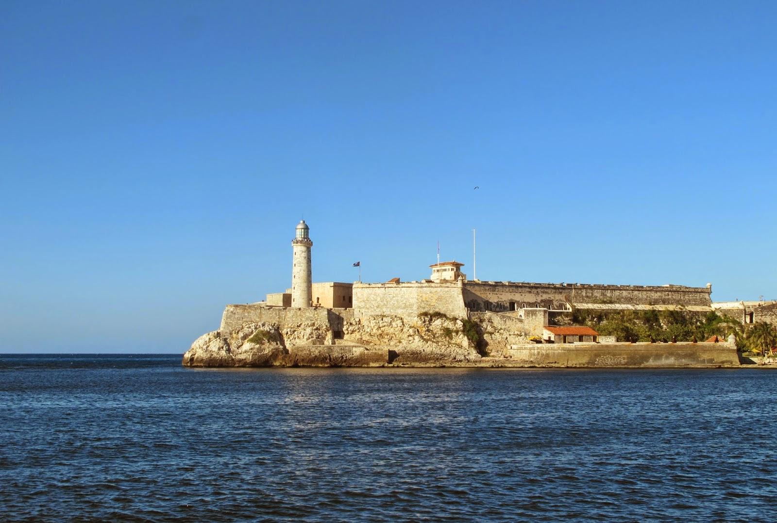 Castillo del Morro, visto do Malecón de Havana