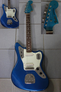 Pre owned guitars otokomusic otoko music fender fender jaguar made in japan year 1999 2002 rare matching headstock a tiny paint peel at the back of body condition 910 sciox Images