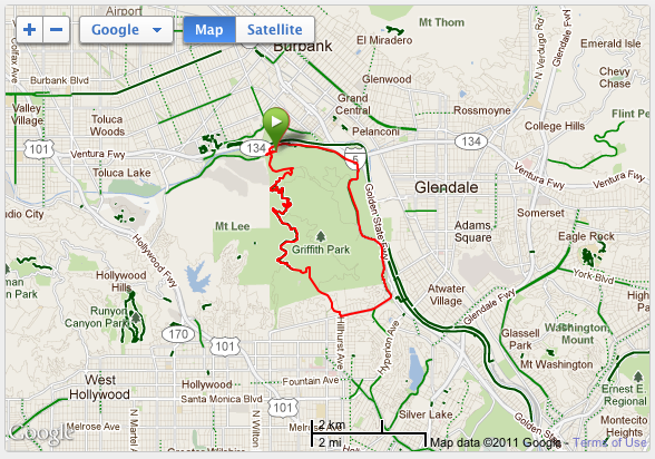 Griffith Park Los Angeles Map.Silver Streak Cycling Day Two Ride Griffith Park Loop