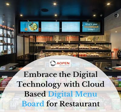 Digital Menu Boards Restaurant