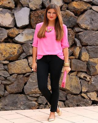 Outfits casuales con BALETAS tumblr rosa