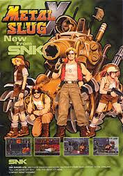 Metal Slug X+arcade+game+portable+art+flyer