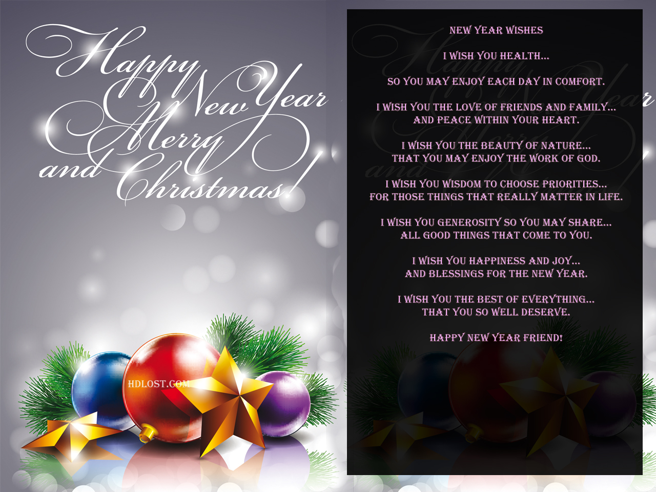 Hd Wallpapers Happy New Year And Christmas Best Wishes