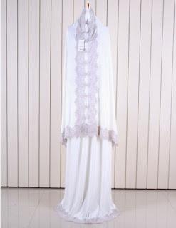Jual Online Mukena Bergo Modern Hijau Model Fashion Korea Terbaru diJakarta
