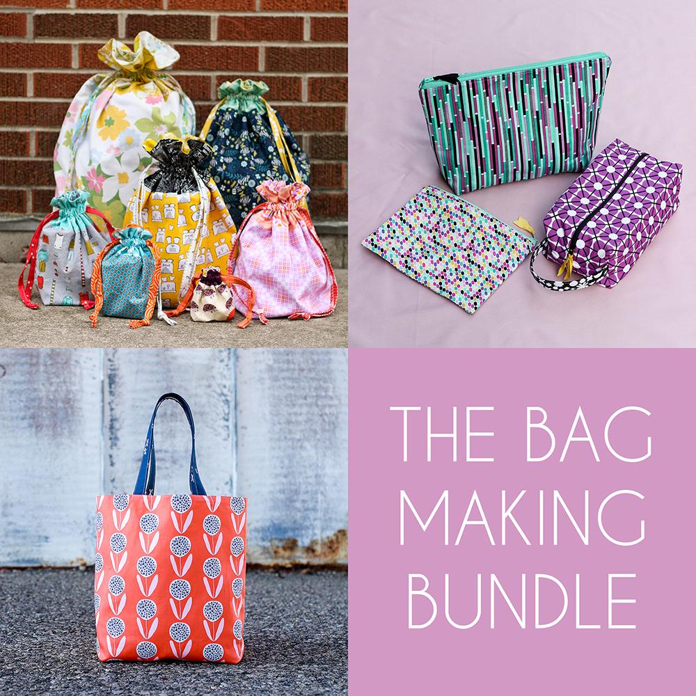 http://www.jenibakerpatterns.com/product/the-bag-making-pdf-pattern-bundle