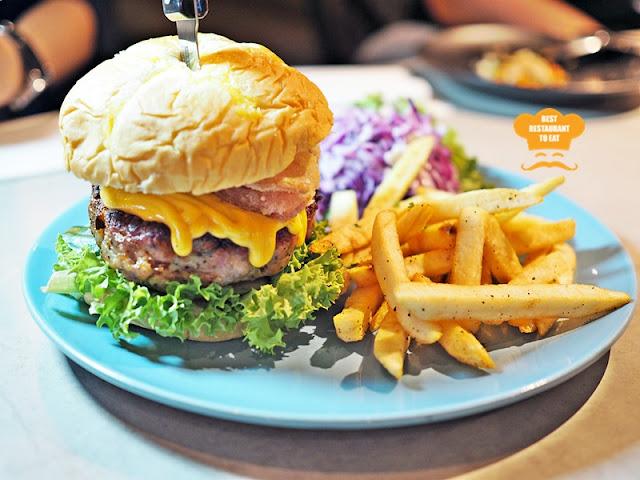 The Brew House Pork Burger