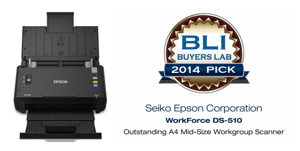 2014 Winter Pick Award for Outstanding A4 Mid-Size Workgroup Scanner