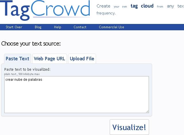 Como crear una nube de palabras
