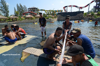 Outbound di Waterpark Jogja Bay