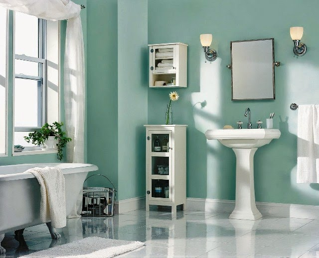 small bathroom wall painting ideas