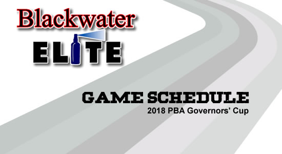 LIST: Blackwater Elite Game Schedule 2018 PBA Governors' Cup