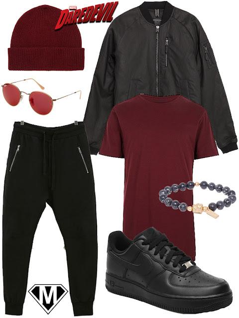 disneybound Daredevil streetwear version outfit