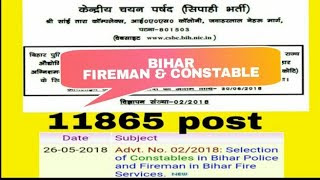 Bihar Police Recruitment 2018-2019 Application Form Download