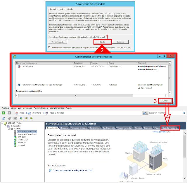 """Un certificado SSL que no es de confianza está instalado en """"vCenter"""" y no se puede garantizar la comunicación segura"""