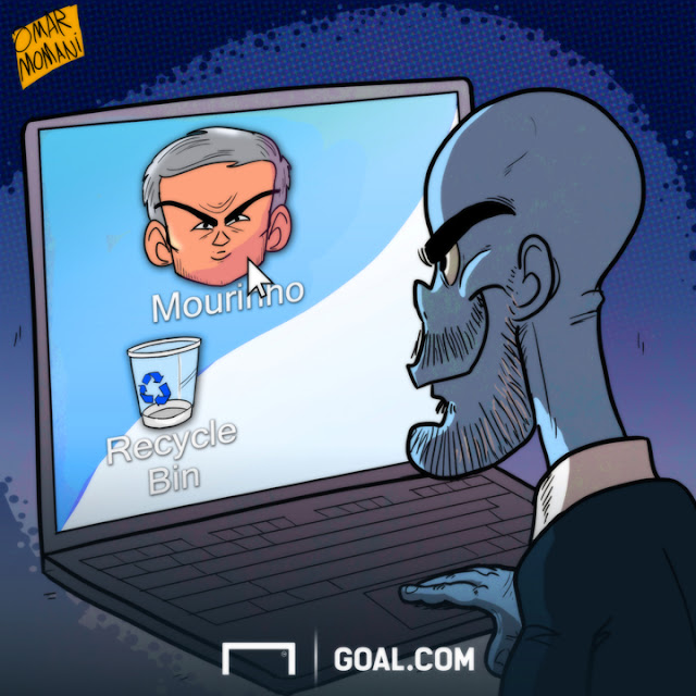 Mourinho and Guardiola cartoon